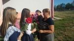 Flori pentru dna Lidia - profesoara de matematica si dna Silvia - fosta mea diriginta